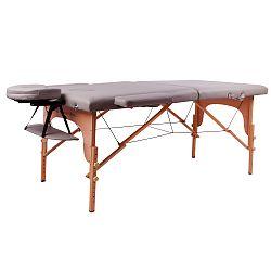 Masážne lehátko inSPORTline Taisage 2-dielne drevené